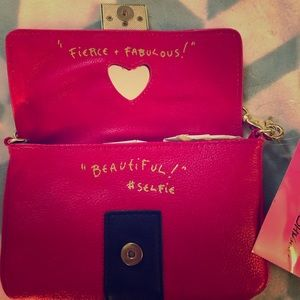"Adorable ""Selfie"" Betsey Johnson mini clutch"